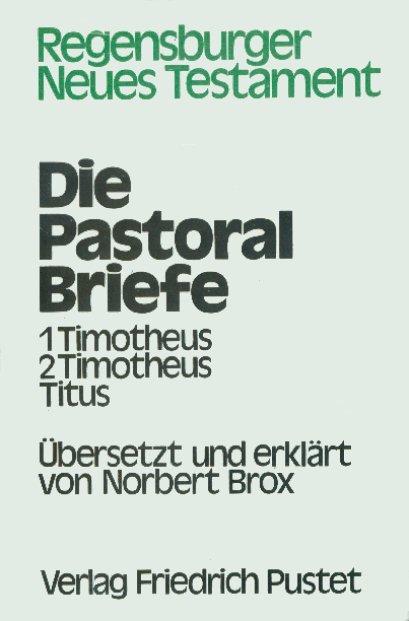 Die Pastoralbriefe als Buch von