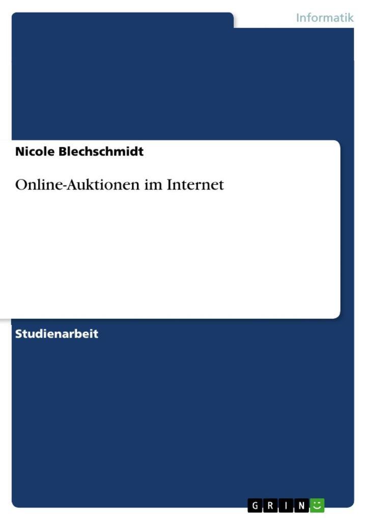 Online-Auktionen im Internet als eBook von Nico...