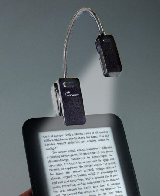eBook Reader Booklight Leselampe Schwarz