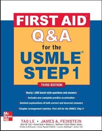 First Aid Q&A for the USMLE Step 1 als Buch von Tao Le, James Feinstein