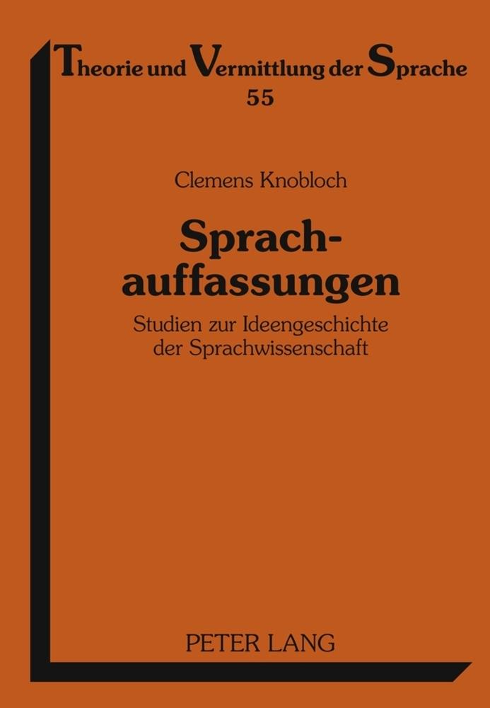 Sprachauffassungen als Buch von Clemens Knobloch