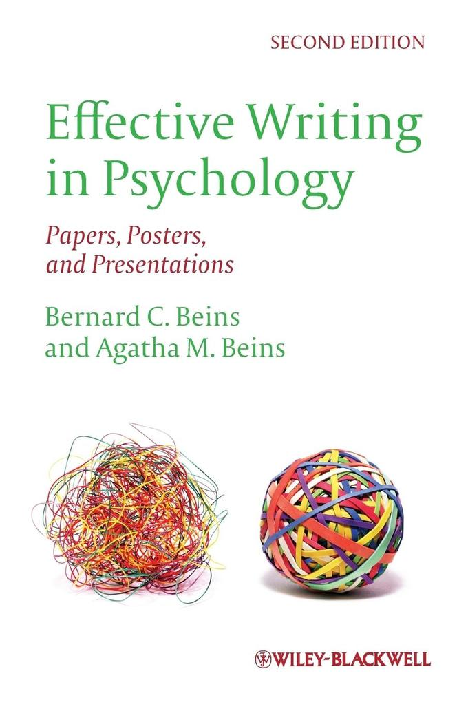 Effective Writing in Psychology als Buch von Bernard C. Beins, Agatha M. Beins