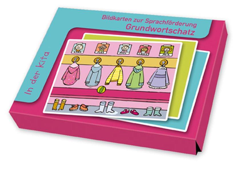Bildkarten zur Sprachförderung: Grundwortschatz: In der Kita als Buch von