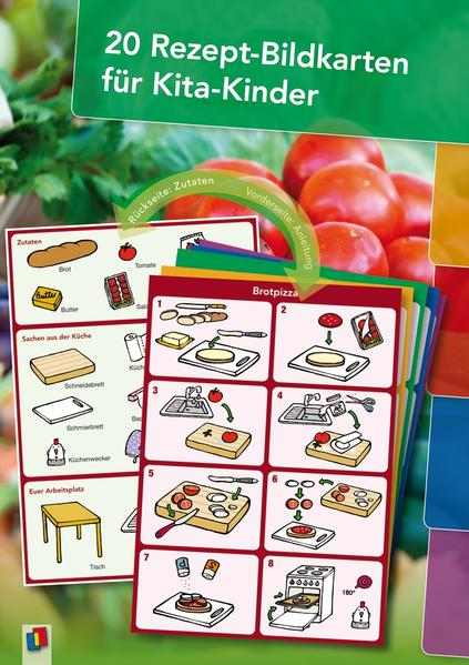 20 Rezept-Bildkarten für Kita-Kinder als Buch von Redaktionsteam Verlag an der Ruhr