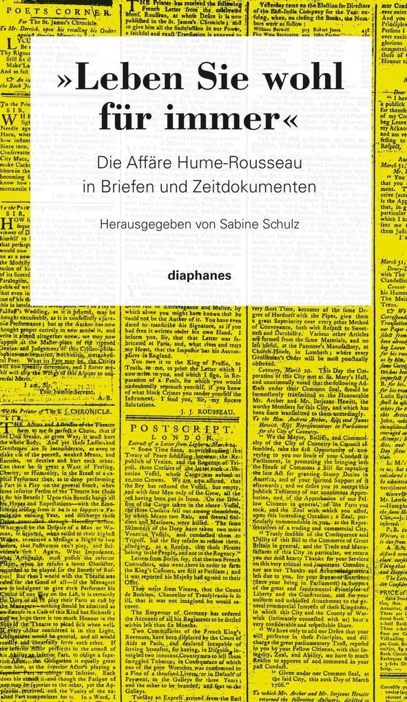 »Leben Sie wohl für immer« als Buch von David Hume, Jean-Jacques Rousseau