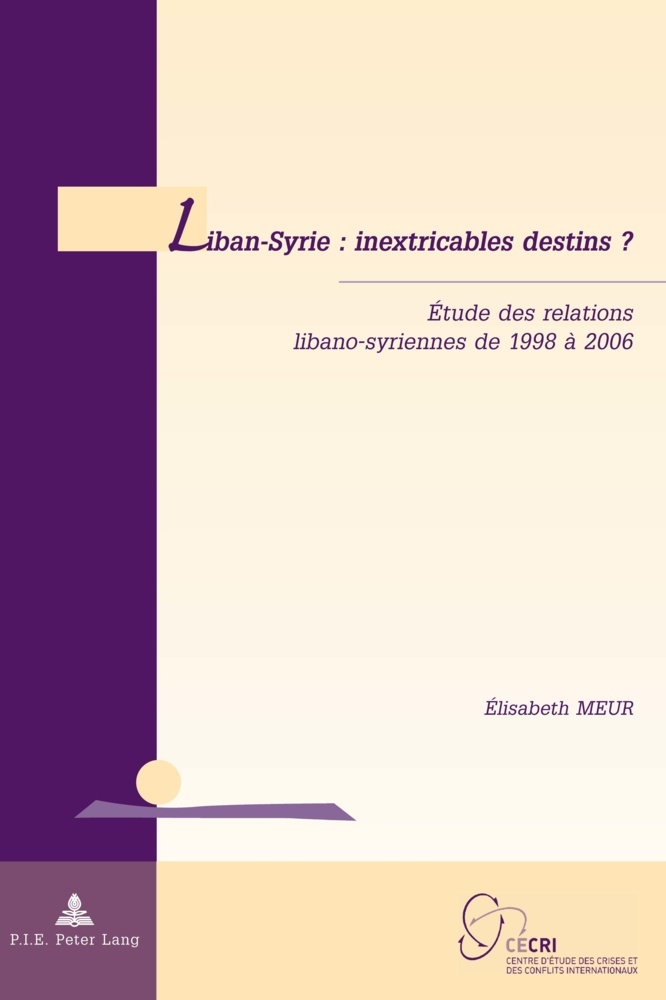 Liban-Syrie : inextricables destins ? als Buch ...