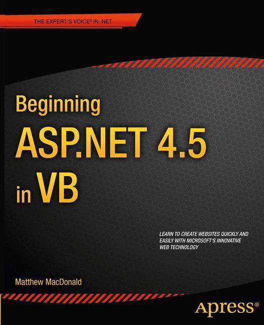 Beginning ASP.Net 4.5 in VB als Taschenbuch von Matthew MacDonald