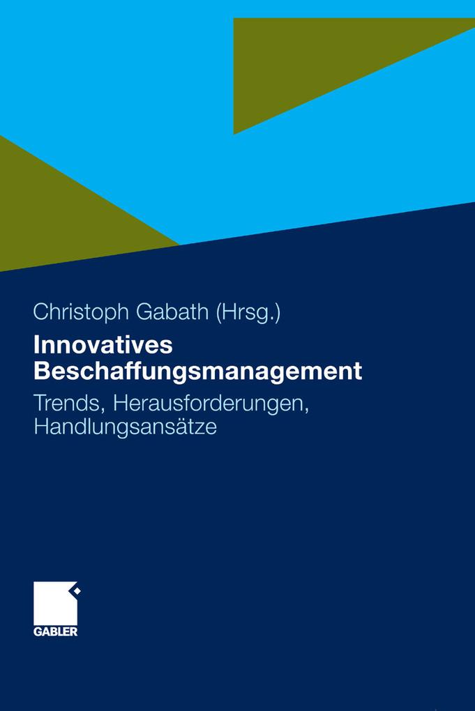 Innovatives Beschaffungsmanagement als eBook von
