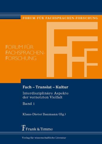 Fach - Translat - Kultur als Buch von