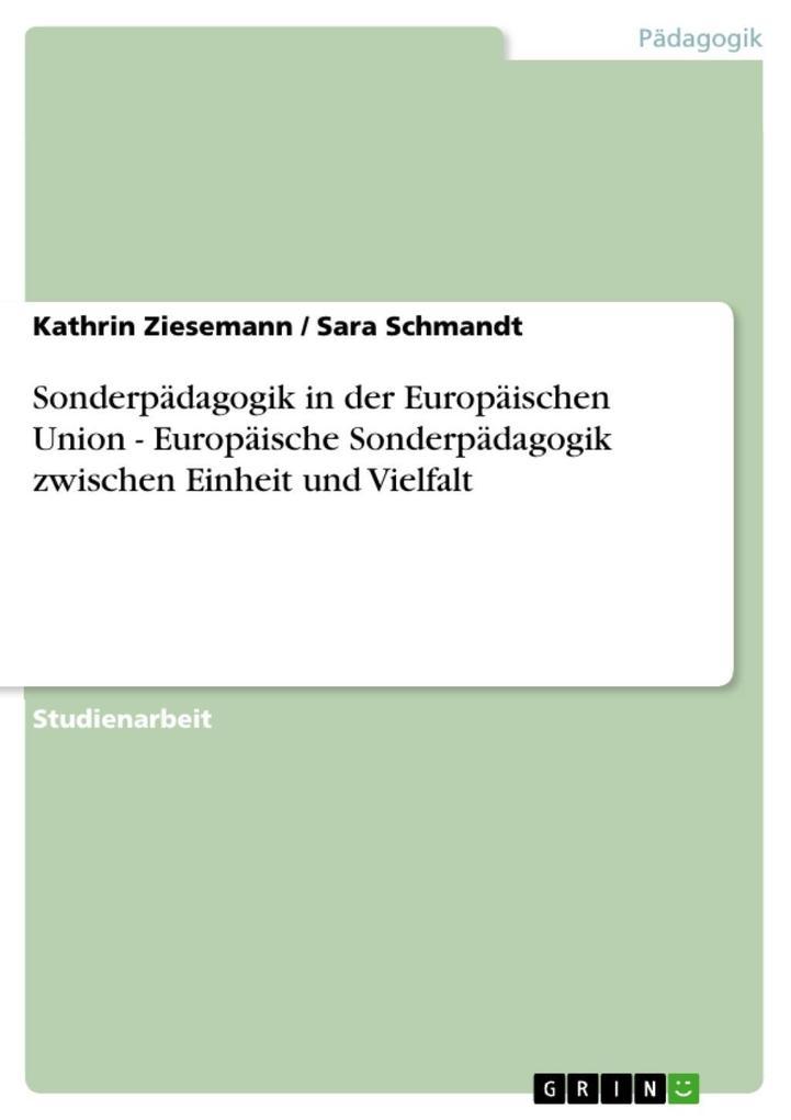 Sonderpädagogik in der Europäischen Union - Eur...