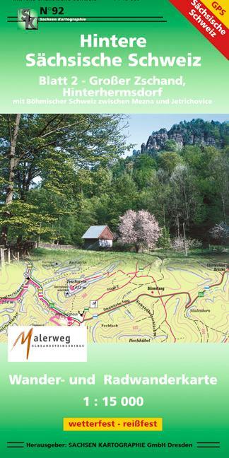 Hintere Sächsische Schweiz 02. 1 : 15 000 als B...