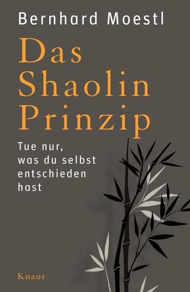 Das Shaolin-Prinzip als Buch von Bernhard Moestl