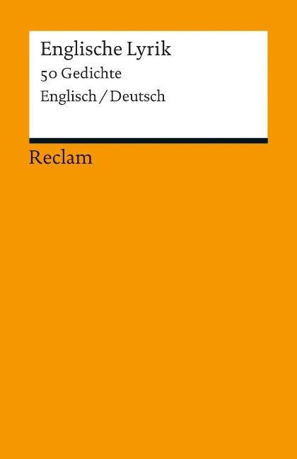 Englische Lyrik als Taschenbuch von