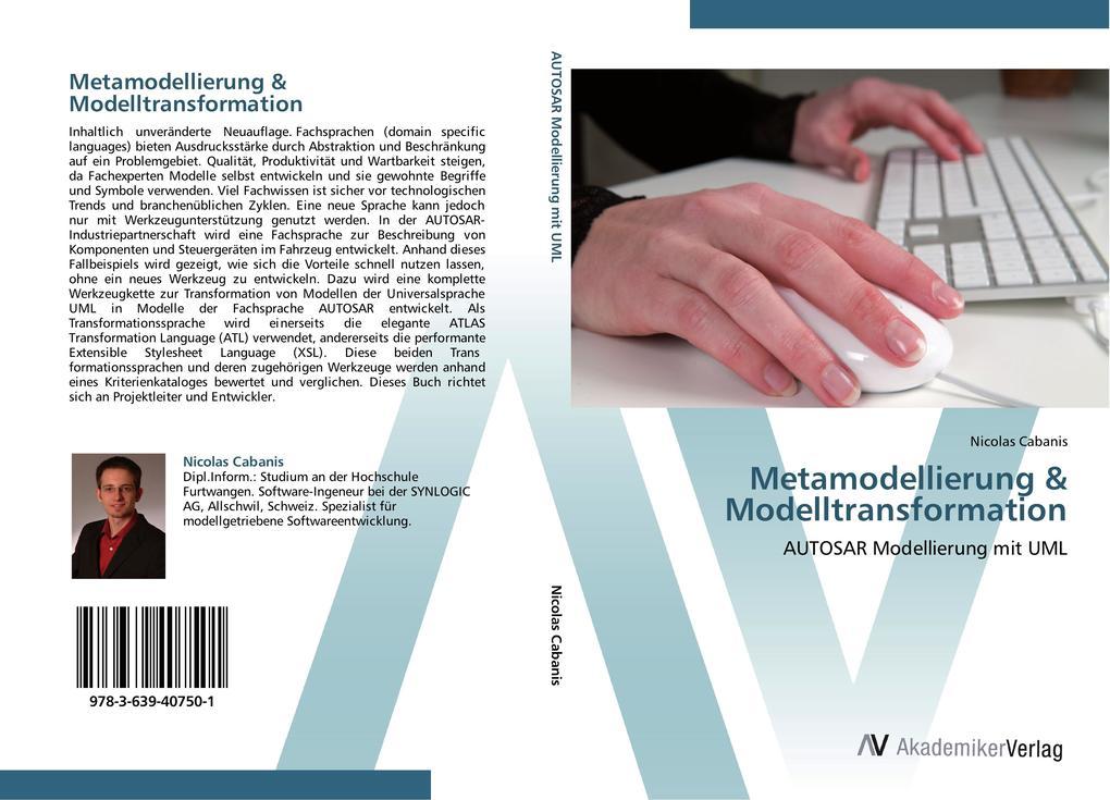 9783639407501 - Metamodellierung & Modelltransformation als Buch von Nicolas Cabanis - 书