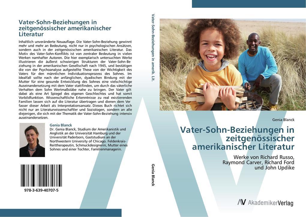 9783639407075 - Vater-Sohn-Beziehungen in zeitgenössischer amerikanischer Literatur als Buch von Genia Blanck - كتاب