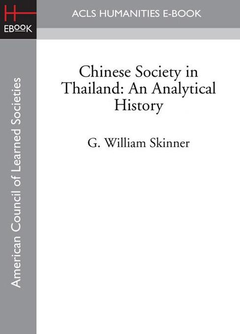 Chinese Society in Thailand als eBook von G. Wi...