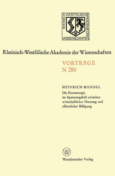 Die Kernenergie im Spannungsfeld zwischen wirtschaftlicher Nutzung und öffentlicher Billigung als Buch von Heinrich Mandel