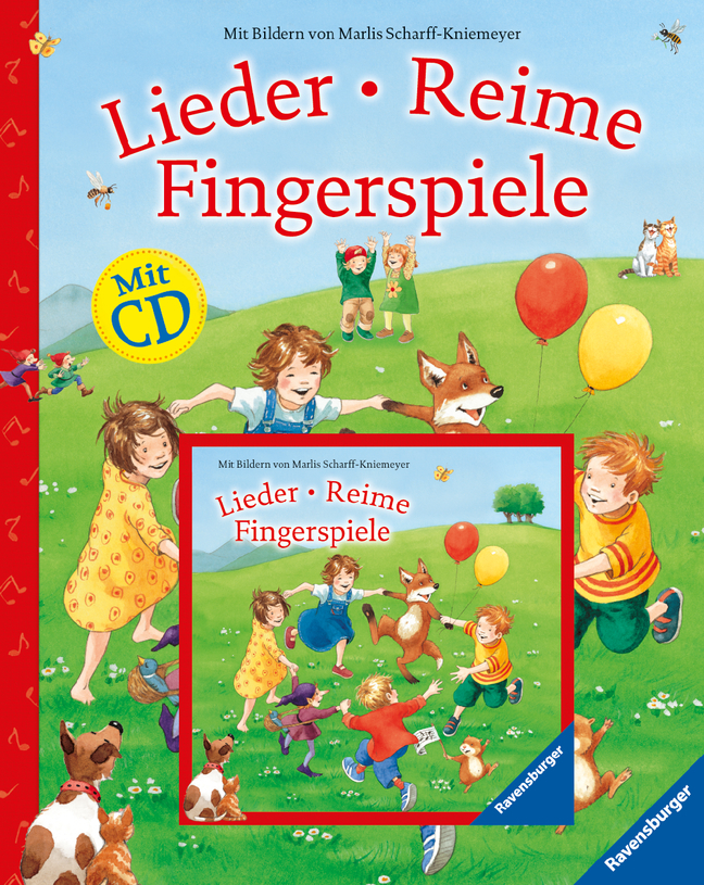 Lieder, Reime, Fingerspiele (mit CD) als Buch von