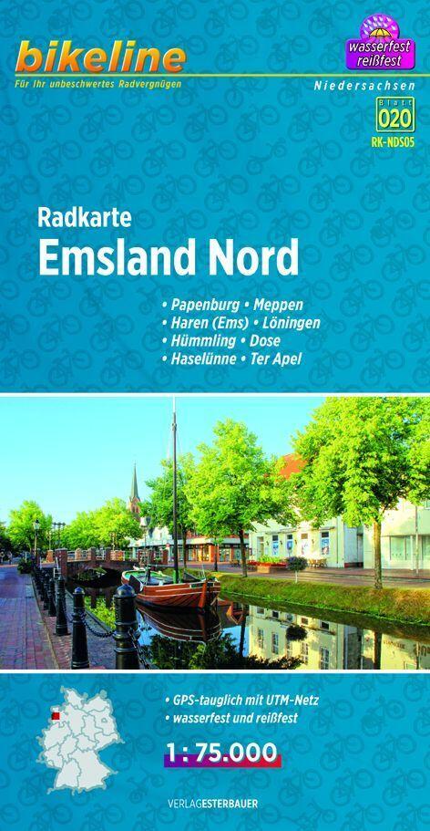 Bikeline Radkarte Emsland Nord (NDS05) 1 : 75 0...