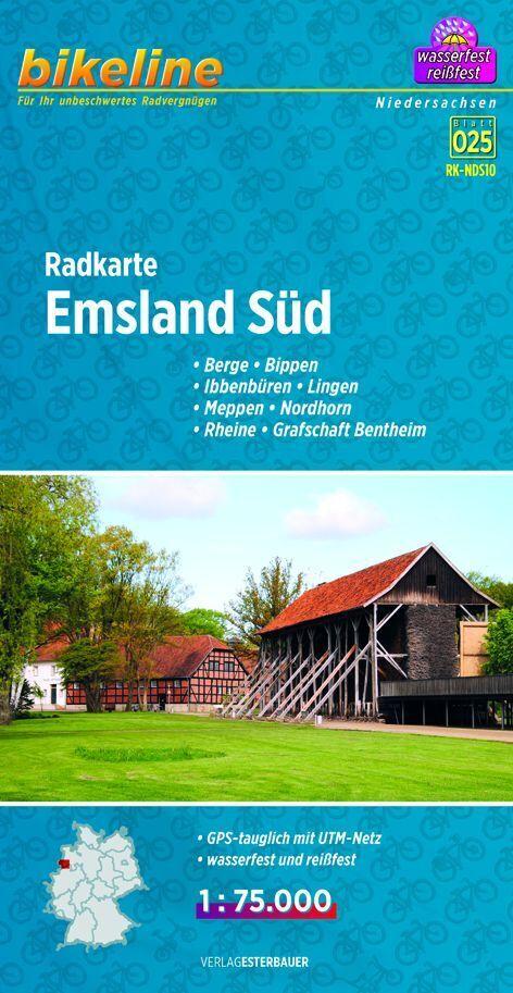 Bikeline Radkarte Emsland Süd (NDS10) 1 : 75 00...