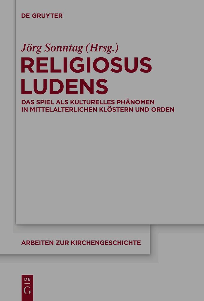 Religiosus Ludens als Buch von