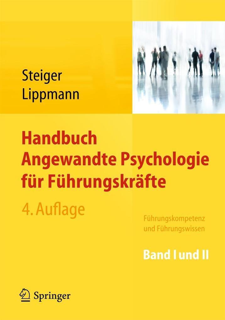 Handbuch Angewandte Psychologie für Führungskräfte als Buch von