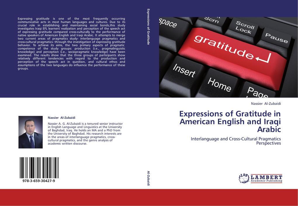 Expressions of Gratitude in American English and Iraqi Arabic als Buch von Nassier Al-Zubaidi