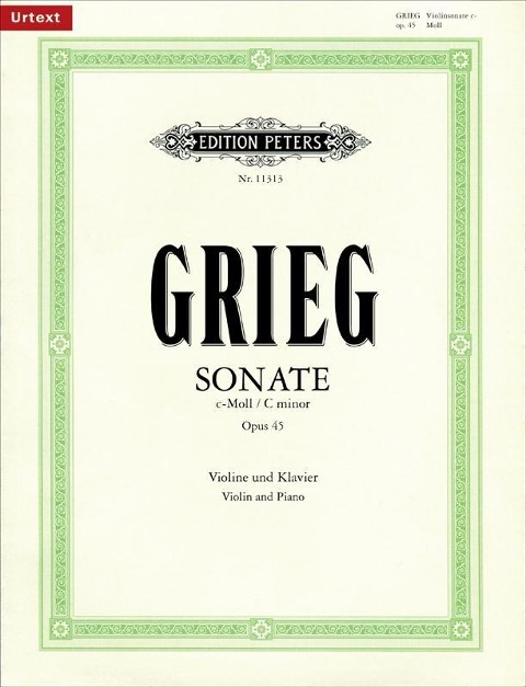 Sonate Nr. 3 c-Moll op. 45 als Buch von Edvard Grieg