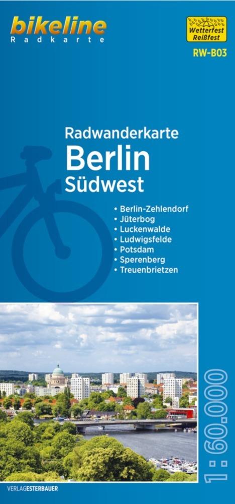 Bikeline Radwanderkarte Berlin Südwest 1 : 60 000 als Buch von