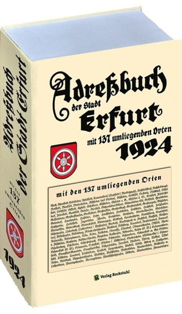 Adreßbuch Einwohnberbuch Erfurt 1924 + 137 Orte...