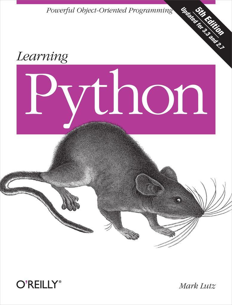 Learning Python als Buch von Mark Lutz