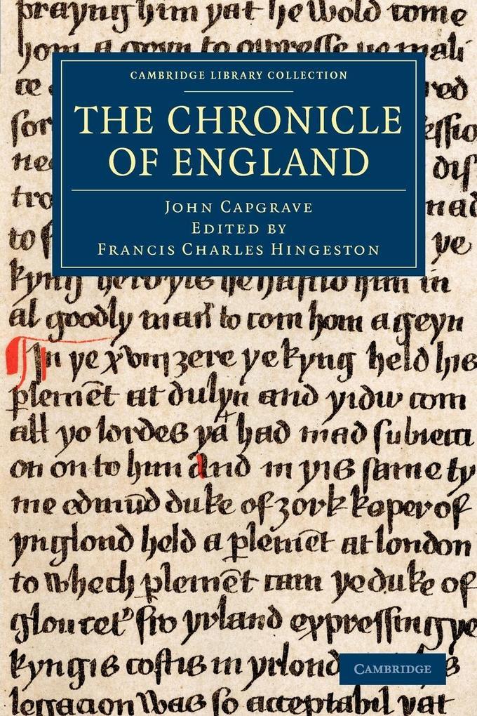 The Chronicle of England als Taschenbuch von John Capgrave