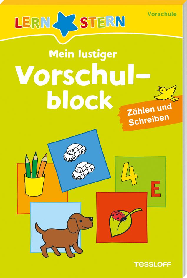 Lernstern: Mein lustiger Vorschulblock. Zählen und Schreiben ab 4 Jahren als Buch von