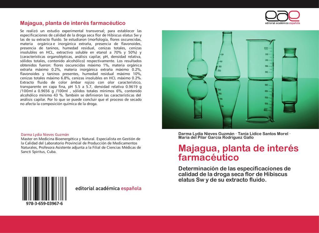 Majagua planta de interés farmacéutico als Buch von Darma Lydia Nieves Guzmán Tania Lidice Santos Morel María del Pilar García Rodríguez Gallo