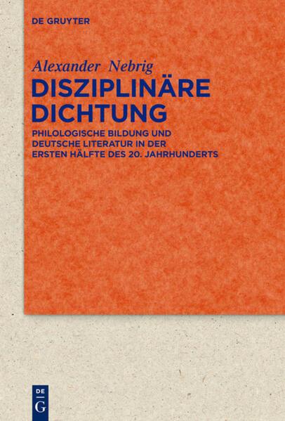 Disziplinäre Dichtung als Buch von Alexander Nebrig