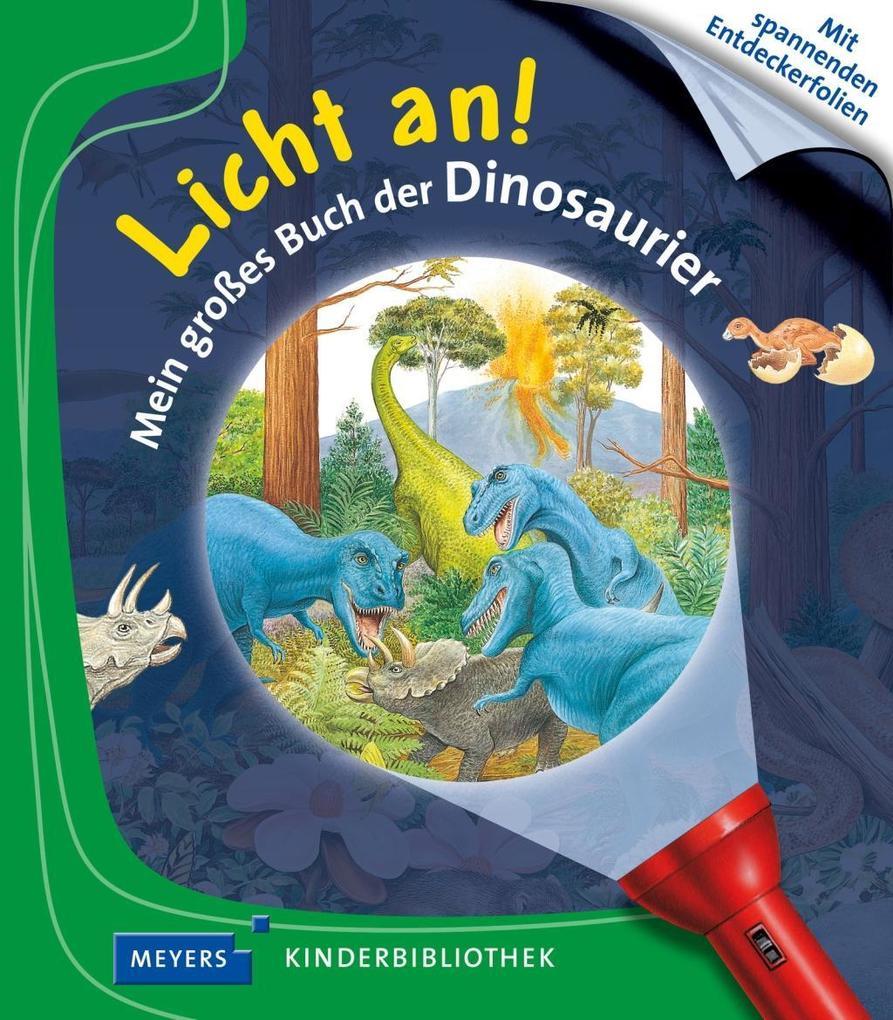 Licht an! Mein großes Buch der Dinosaurier als Buch von Delphine Gravier-Badreddine
