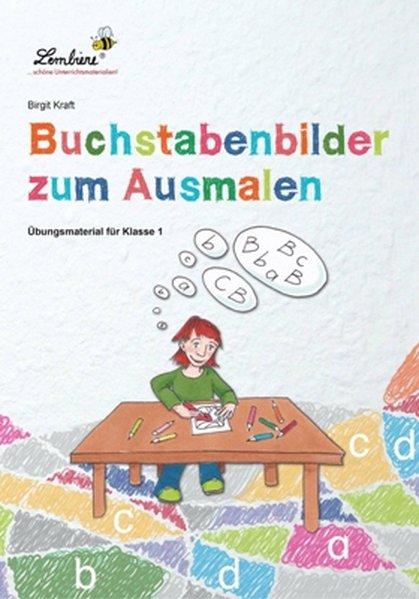 Buchstabenbilder zum Ausmalen (PR) als Buch von Birgit Kraft