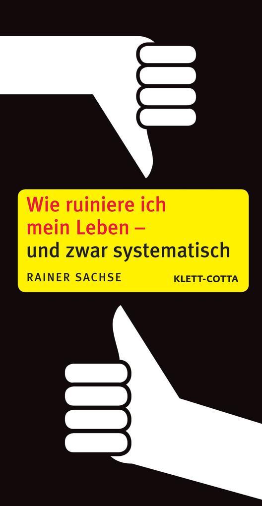 Wie ruiniere ich mein Leben - und zwar systematisch als eBook von Rainer Sachse