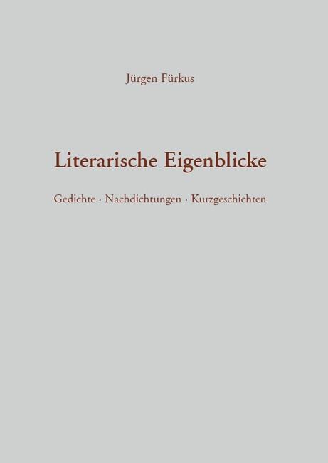 Literarische Eigenblicke als Buch von Jürgen Fürkus