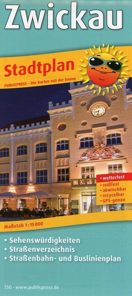 Stadtplan Zwickau 1 : 15 000 als Buch von