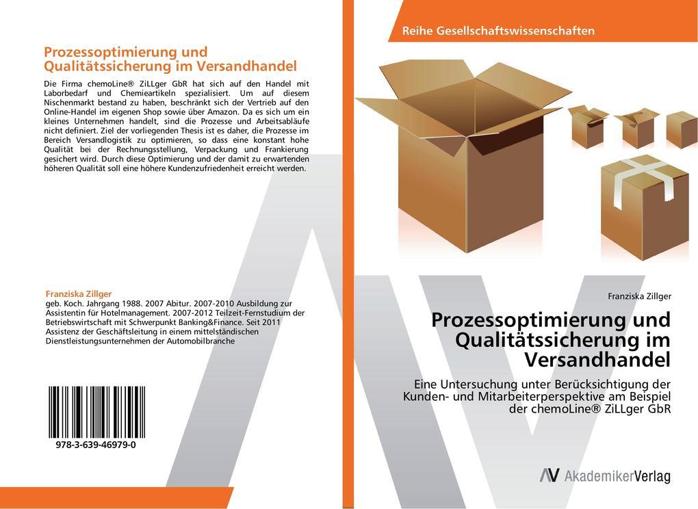 Prozessoptimierung und Qualitätssicherung im Versandhandel als Buch von Franziska Zillger