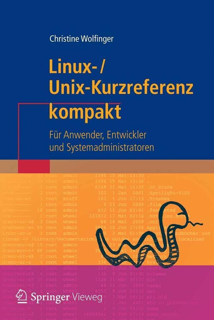 Linux-Unix-Kurzreferenz als eBook von Christine...