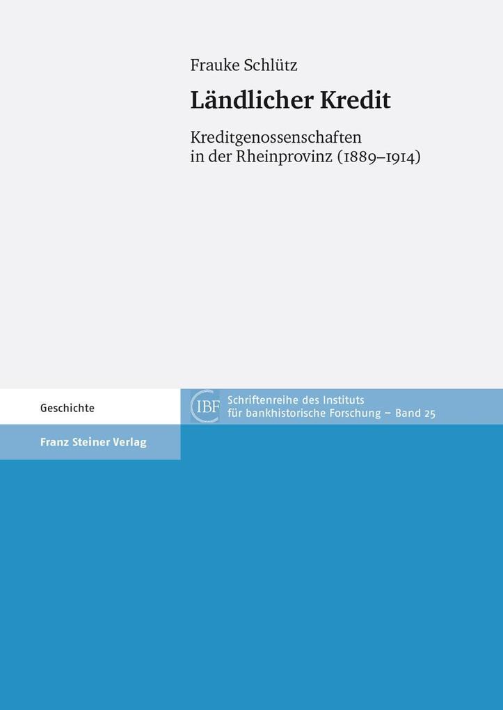 Ländlicher Kredit als eBook von Frauke Schlütz