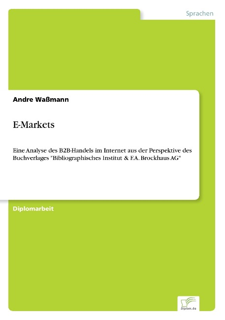 E-Markets als Buch von Andre Waßmann