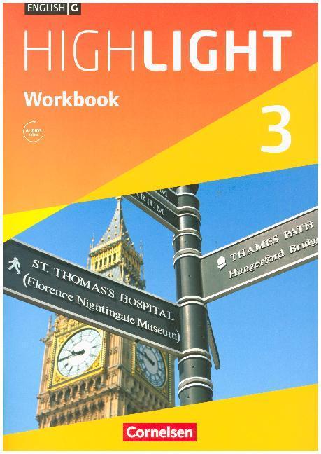 English G Highlight 03: 7. Schuljahr Hauptschule. Workbook als Buch von Gwen Berwick, Sydney Thorne