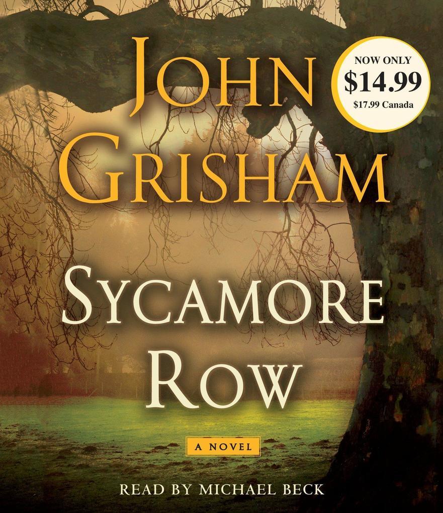 Sycamore Row als Hörbuch CD von John Grisham