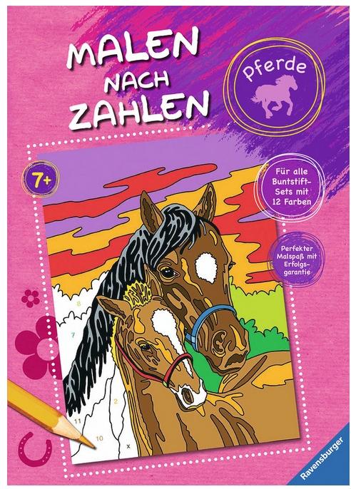 Malen nach Zahlen: Pferde als Buch von