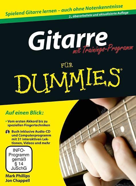 Gitarre für Dummies mit Trainings-Programm als Buch von Mark Phillips, Jon Chappell