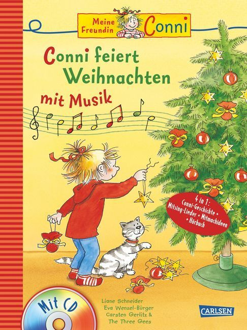 Conni Musicalbuch: Conni feiert Weihnachten mit Musik als Buch von Liane Schneider