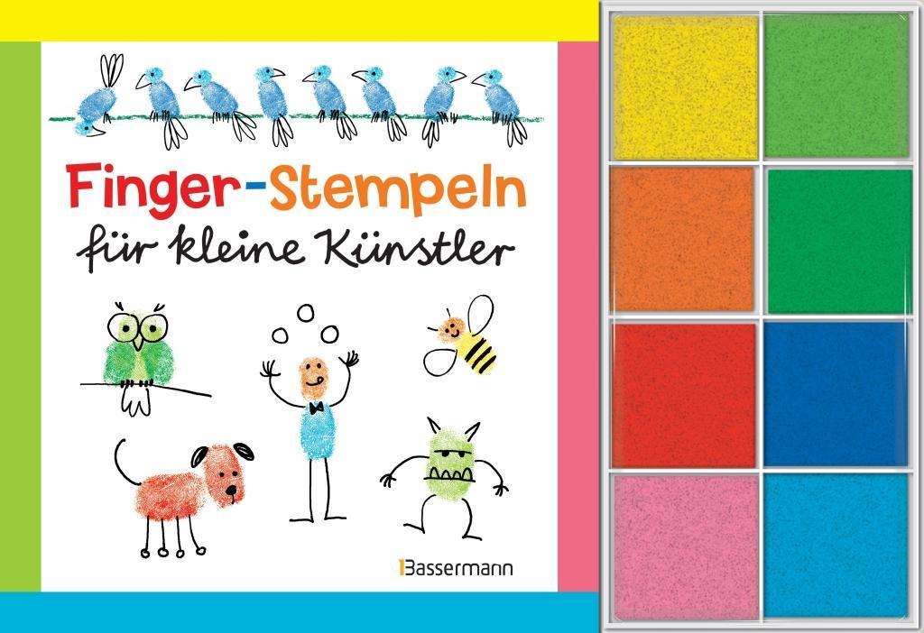 Fingerstempeln für kleine Künstler-Set als Buch von Norbert Pautner